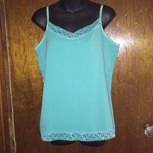 Christopher & Banks Tops - NWOT size xl Christopher and Banks cami turquoise